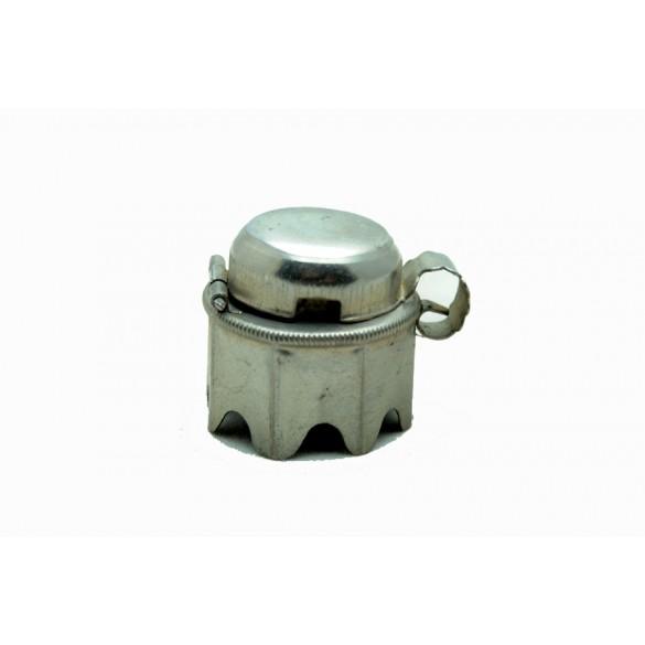 Vintage octagonal alluminium pipe lid