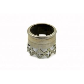 Vintage chiselled alluminium pipe ring