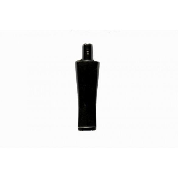 Raw oval ebonite moutpiece 70 mm x 25 mm x 14 mm
